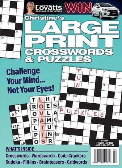 Christine's Large Print Crosswords magazine cover