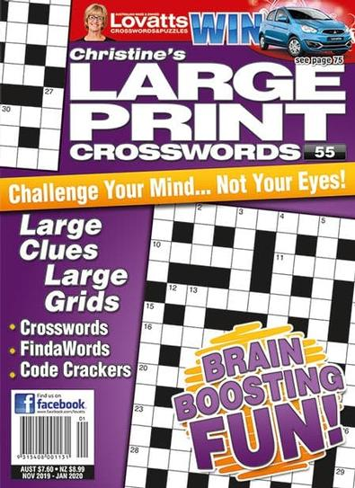 Christine's Large Print Crosswords magazine cover