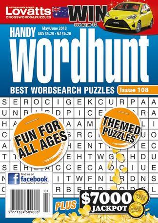 Lovatts Handy Wordhunt magazine cover