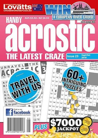 Handy Acrostic magazine cover