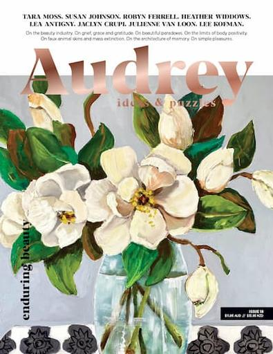 Audrey Puzzle Daybook Australia magazine cover