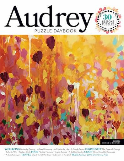 Audrey Puzzle Daybook Australia magazine cover