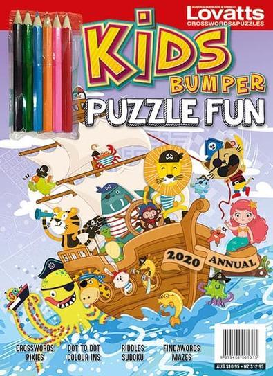Kids Bumper Puzzle Fun Annual 2020 cover