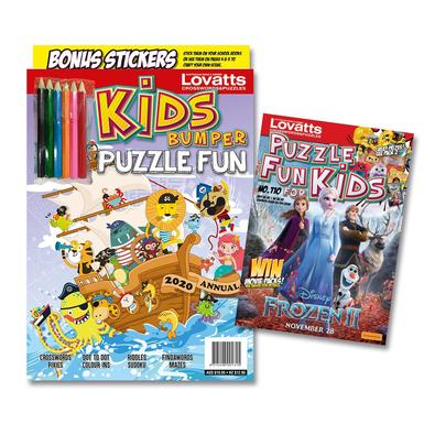 Puzzle Fun for Kids magazine cover