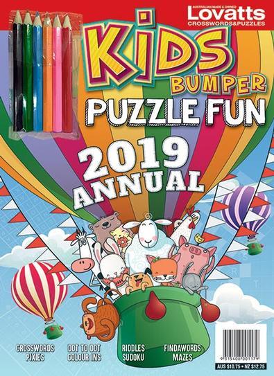 Kids Bumper Puzzle Fun Annual 2019 cover