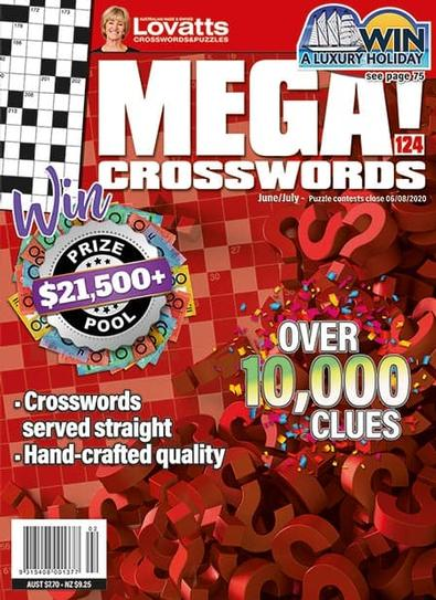 Lovatts MEGA! Crosswords magazine cover