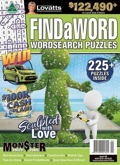 Lovatts FindaWord +225 PUZZLES magazine cover