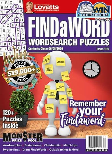 Lovatts Findaword magazine cover