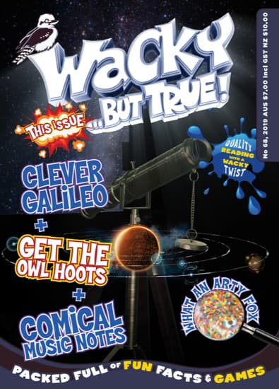 Wacky ... but true magazine cover