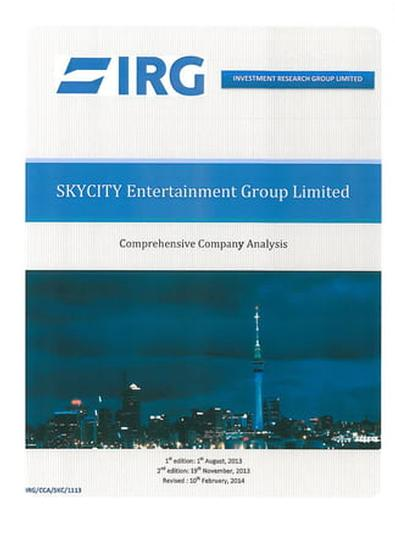 SkyCity magazine cover