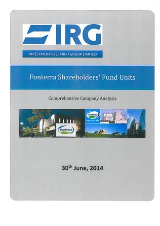 Fonterra Shareholder's Fund Units magazine cover