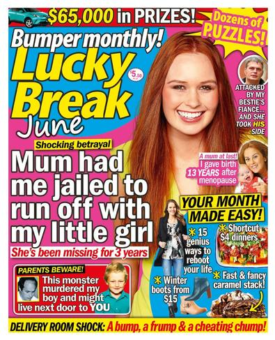 Lucky Break Bumper Monthly magazine cover