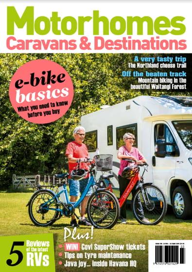 Motorhomes Caravans & Destinations magazine cover