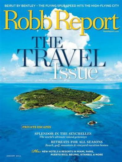 Robb Report (US) magazine cover
