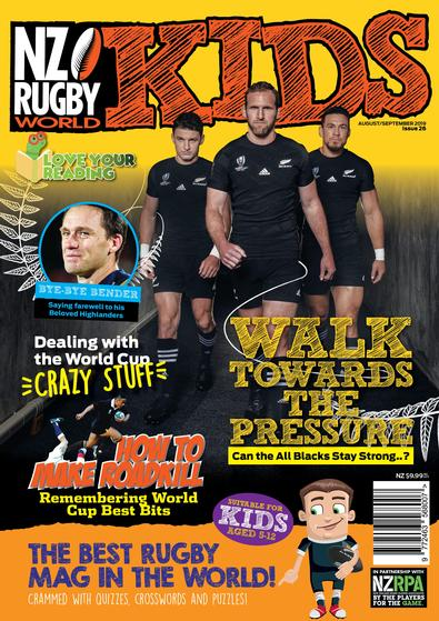 NZ Rugby World Kids magazine cover