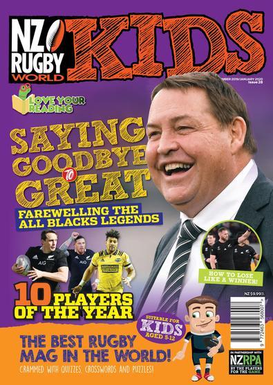 NZ Rugby World Kids magazine cover