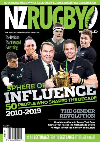 NZ Rugby World magazine cover