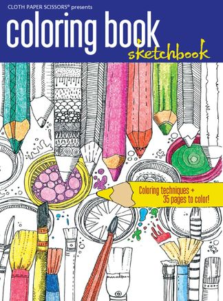Cloth Paper Scissors Coloring Book digital cover