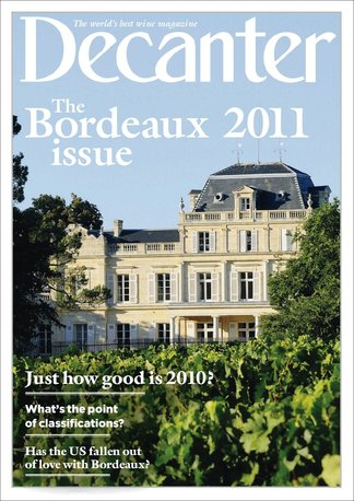 Decanter - The Bordeaux 2011 issue digital cover