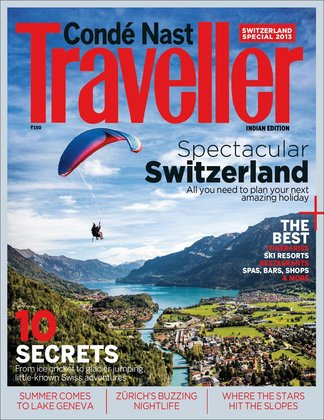 Conde Nast Traveller India - Swiss Special Issue digital cover