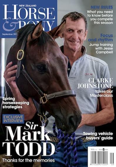 NZ Horse & Pony magazine cover