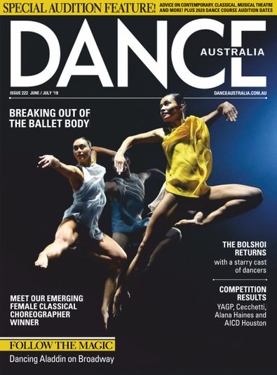 Dance Australia (AU) magazine cover