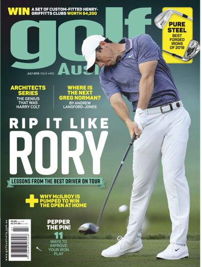Golf Australia (AU) magazine cover