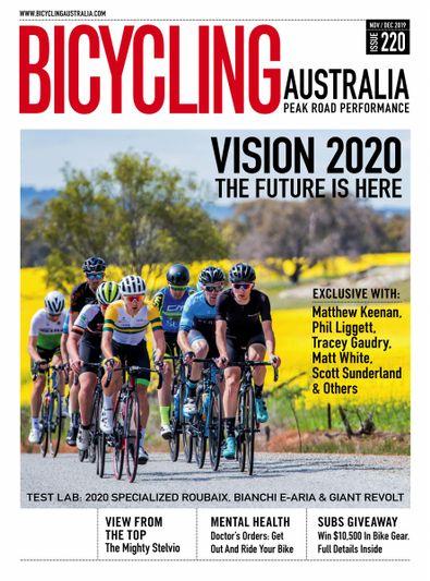 Bicycling Australia (AU) magazine cover