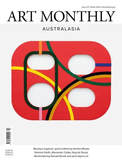 Art Monthly Australasia (AU) magazine cover