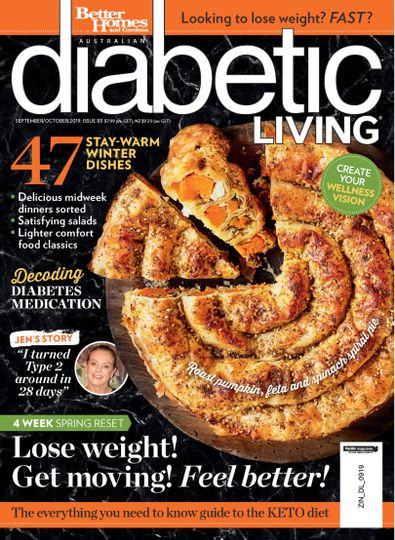 Diabetic Living (AU) magazine cover
