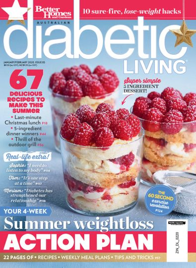 Diabetic Living (AU) magazine cover