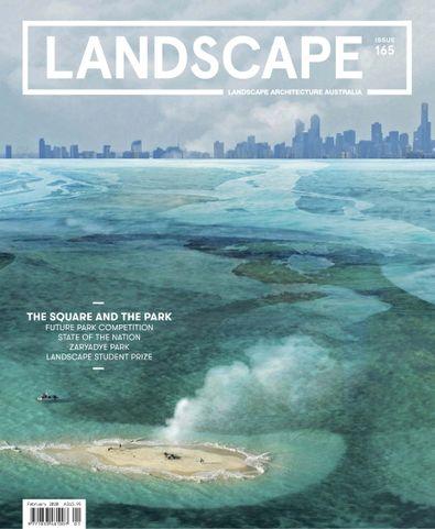Landscape Architecture Australia (AU) magazine cover