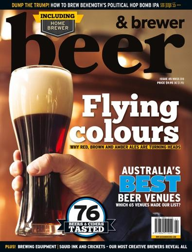 Beer & Brewer Magazine (AU) cover