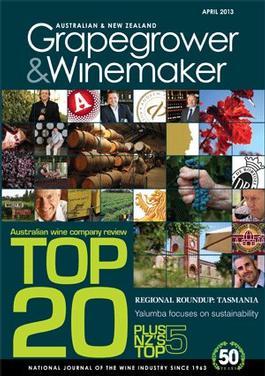 Australian & New Zealand Grapegrower & Winemaker magazine cover