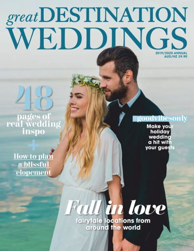 Great Destination Weddings (AU) magazine cover