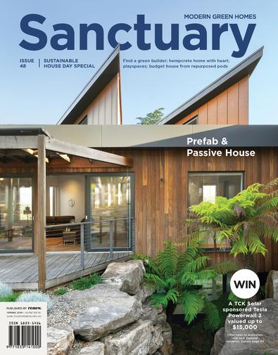 Sanctuary: modern green homes (AU) magazine cover