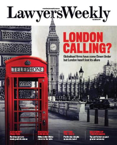 Lawyers Weekly (AU) magazine cover