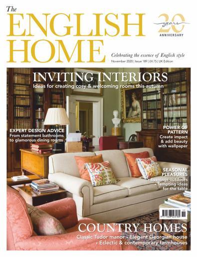 The English Home (UK) magazine cover