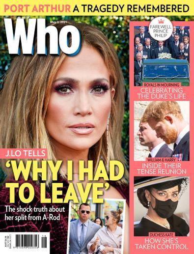 WHO (AU) magazine cover