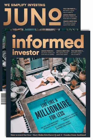 Informed Investor / JUNO magazine cover