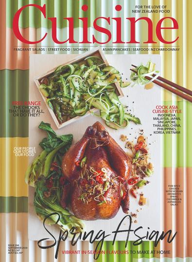 Cuisine magazine cover