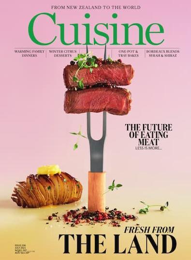 Cuisine magazine cover
