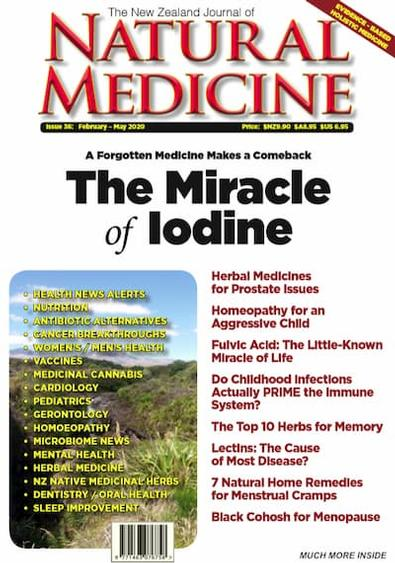 The New Zealand Journal of Natural Medicine magazine cover