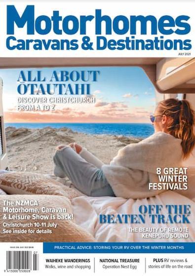 Motorhomes, Caravans & Destinations magazine cover