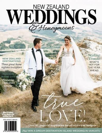 New Zealand Weddings & Honeymoons magazine cover