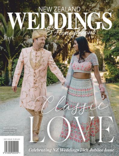 New Zealand Weddings & Honeymoons magazine cover