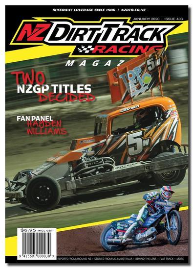 NZ Dirt Track Racing Magazine cover
