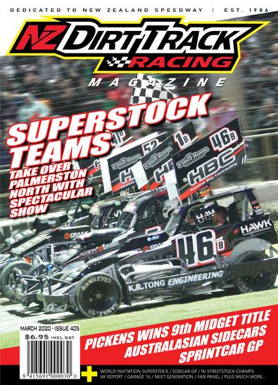 NZ Dirt Track Racing Magazine cover