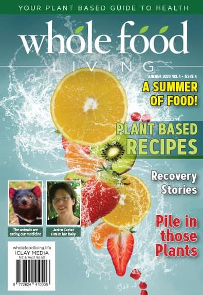 Whole Food Living magazine cover
