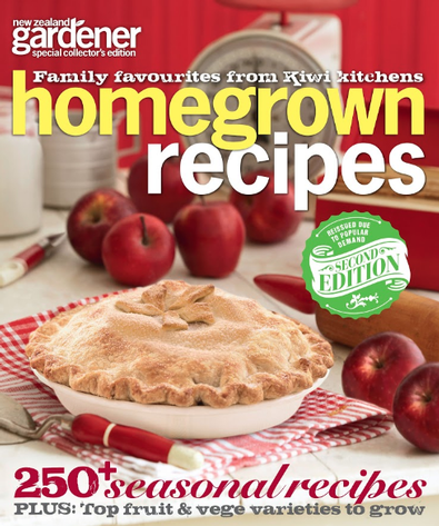 NZ Gardener - Homegrown Recipes cover